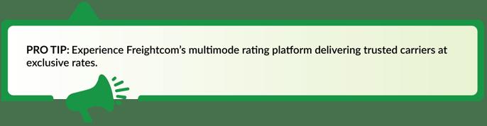 Experience Freightcom's Multimode Platform