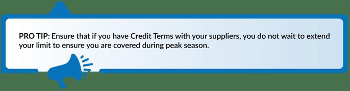 Don't Wait to Extend Credit Limits
