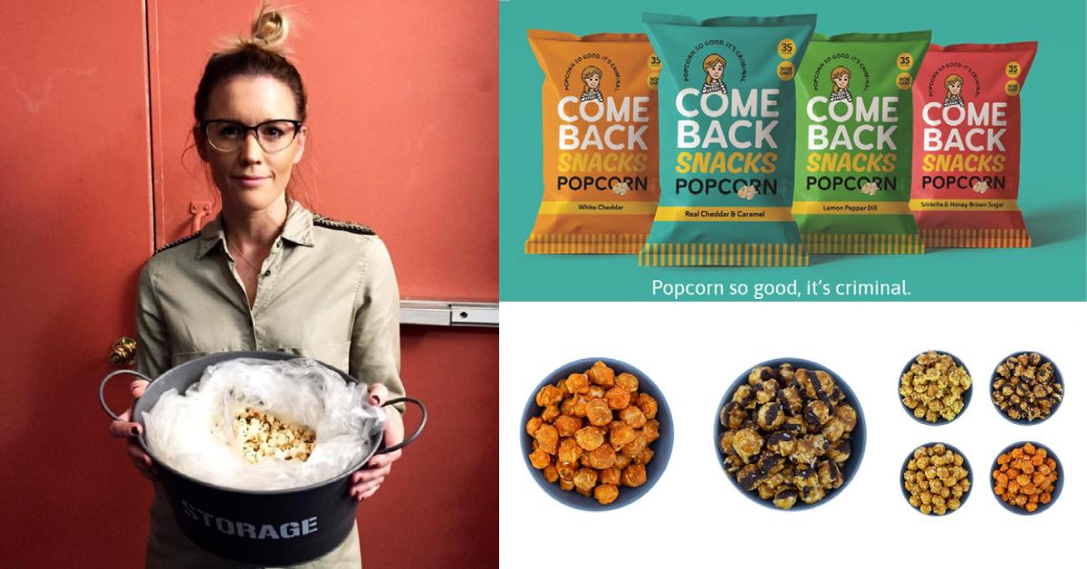 Emily O'Brien with Comeback Snacks