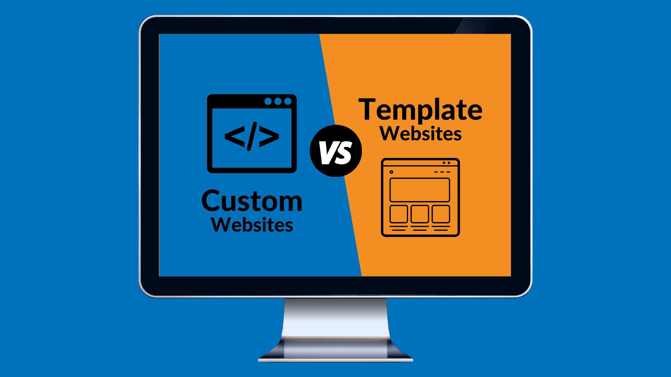 custom website vs template website build